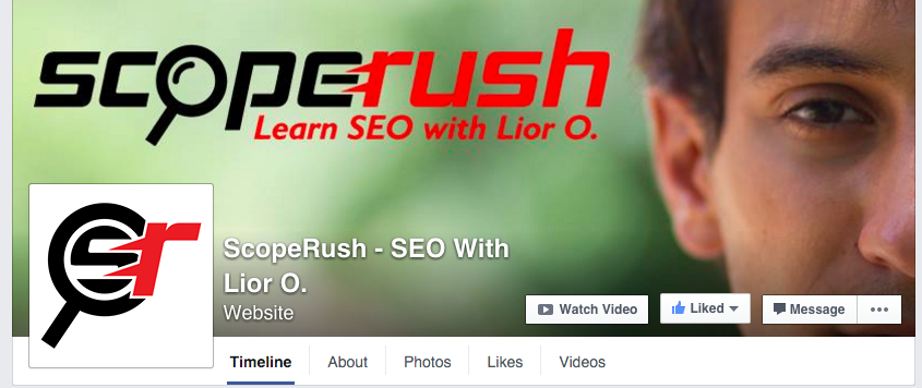 scoperush sell seo facebook page